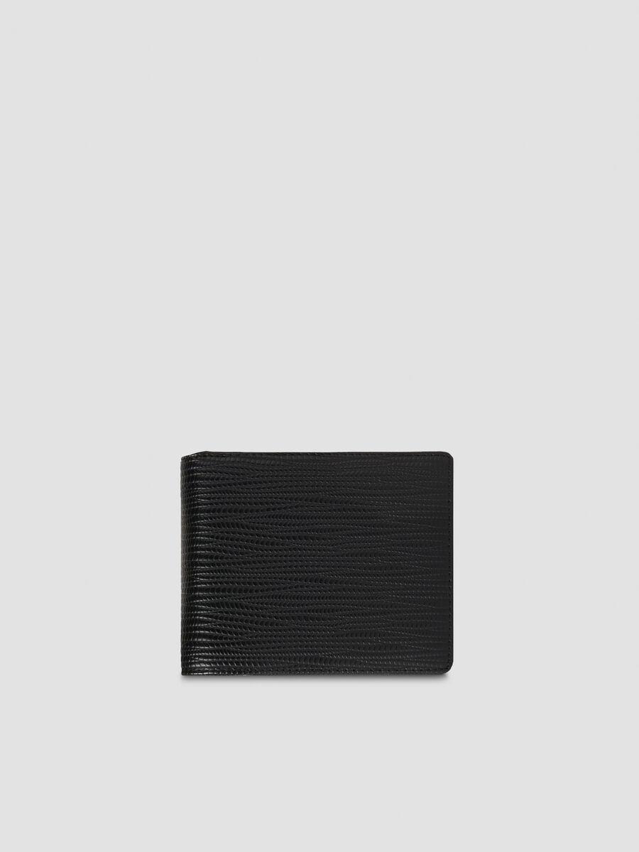 Faux saffiano leather Cortina bi fold wallet