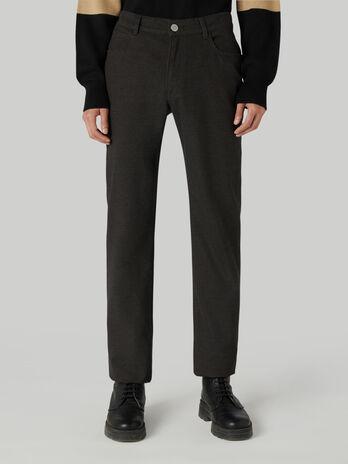Icon 380 trousers in melange gabardine
