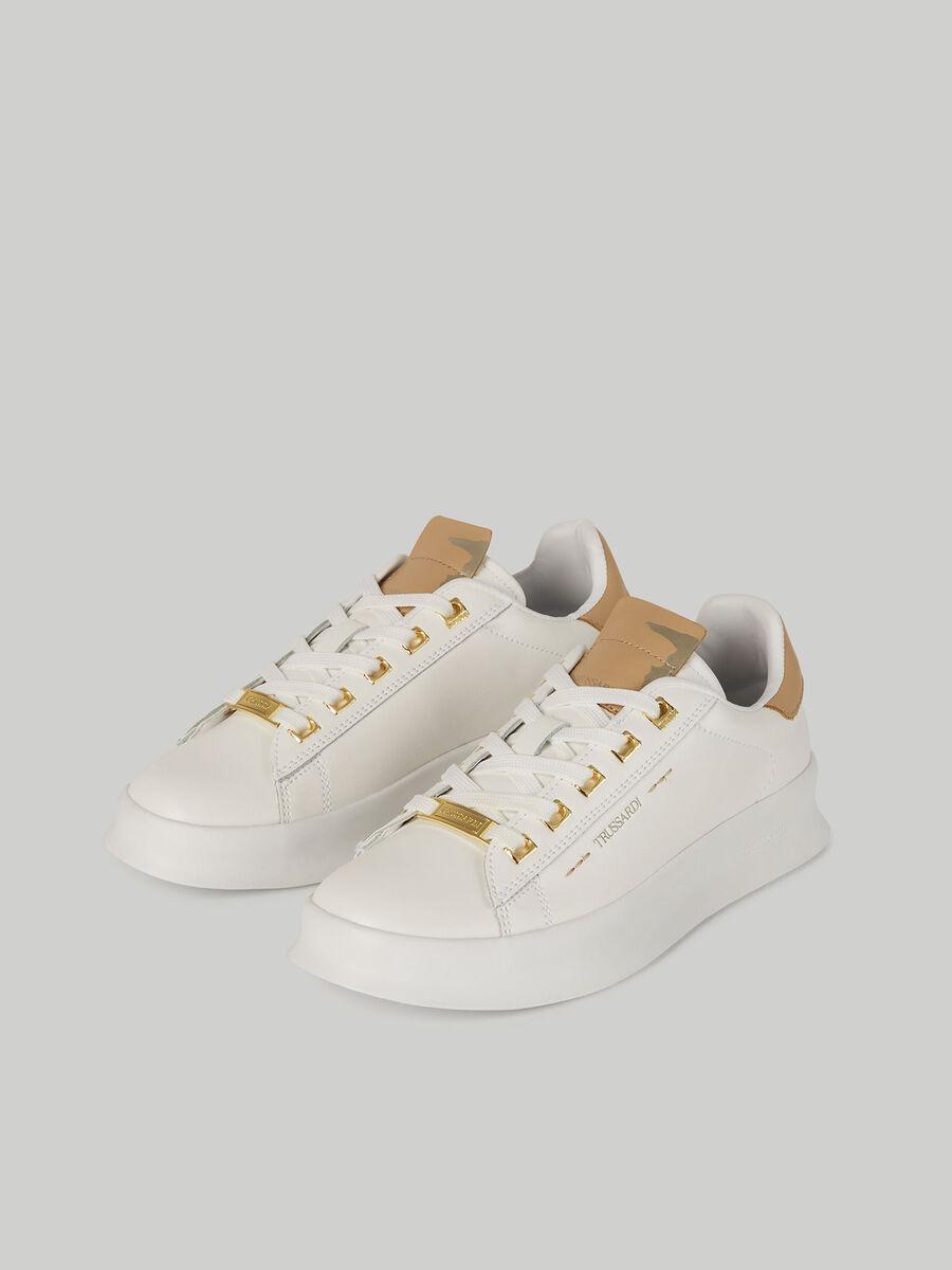 Sneakers Anemone en cuir a lettering