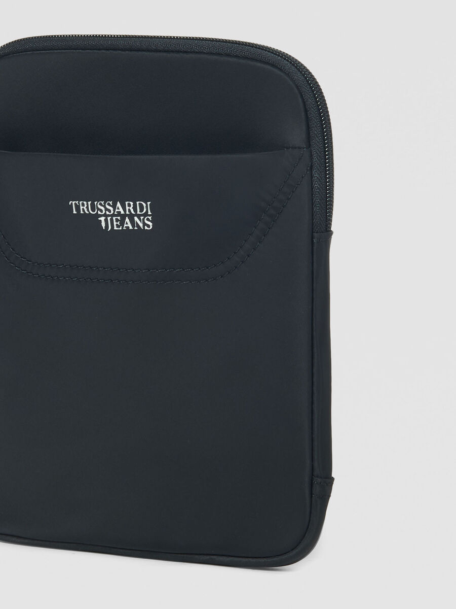 Small flat Business City crossbody bag in nylon
