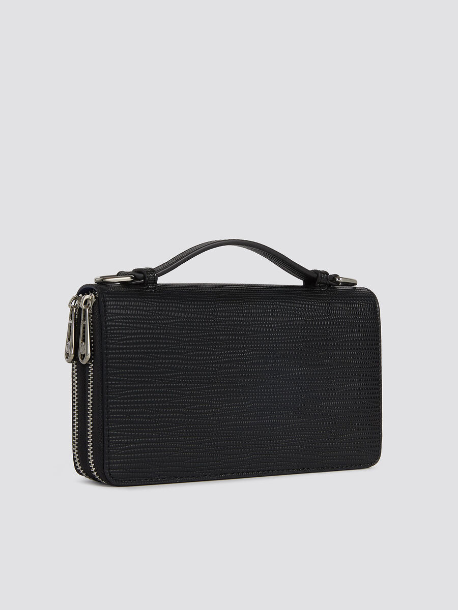 Large Melly travel bag in faux leather with handle