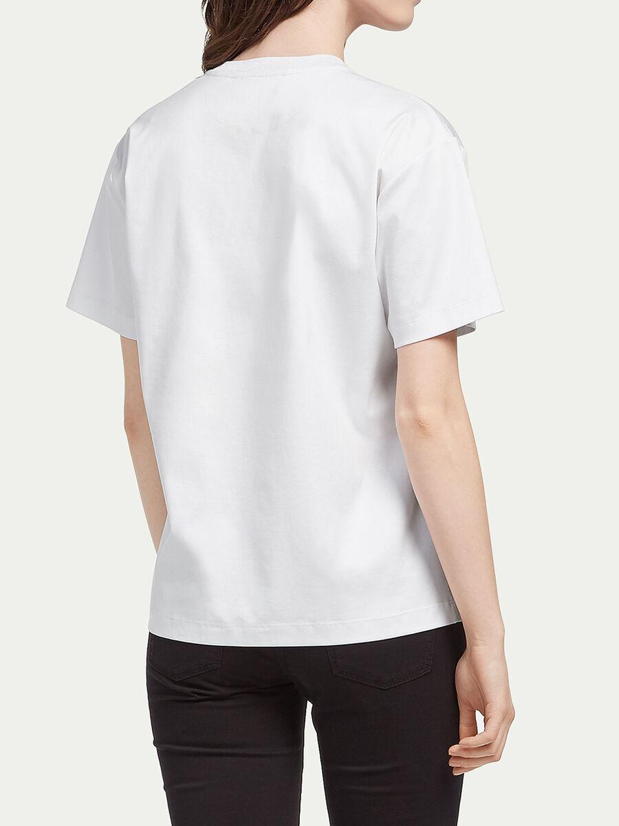 T shirt en interlock a imprime lettering