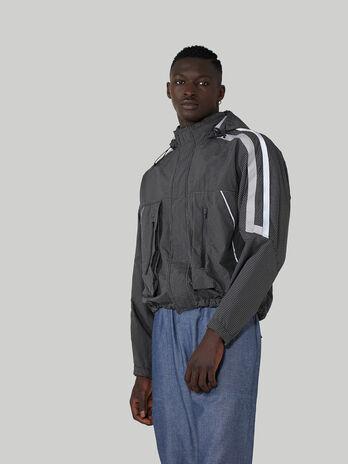 Pop nylon jacket with maxi-pockets