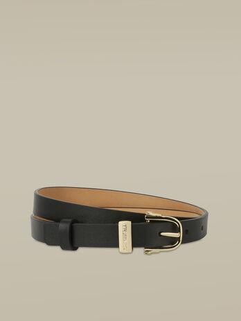 Thin Argo belt in smooth leather