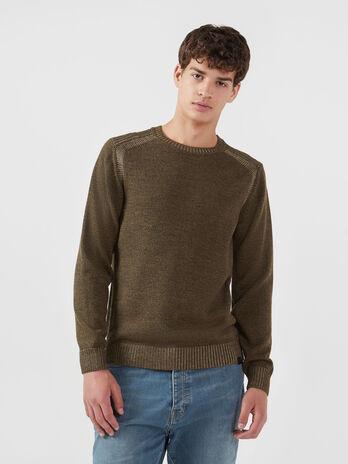 Jersey cuello redondo mouline de mezcla de lana vanise