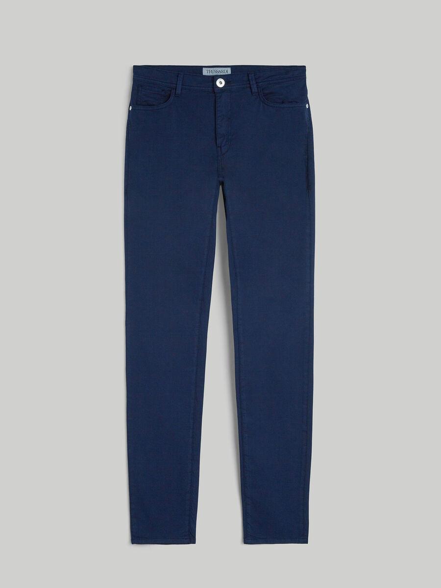 Pantalon 105 skinny de gabardina de algodon