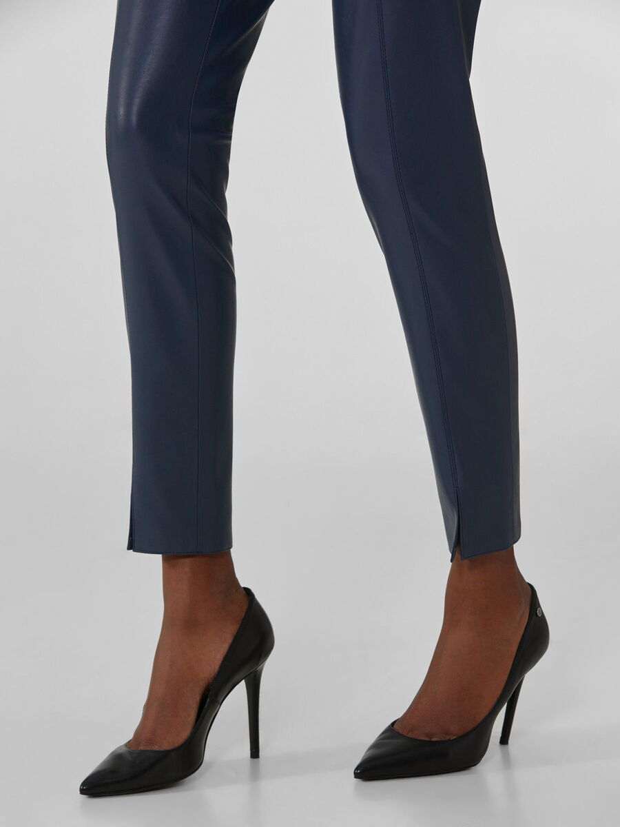 Soft faux leather trousers