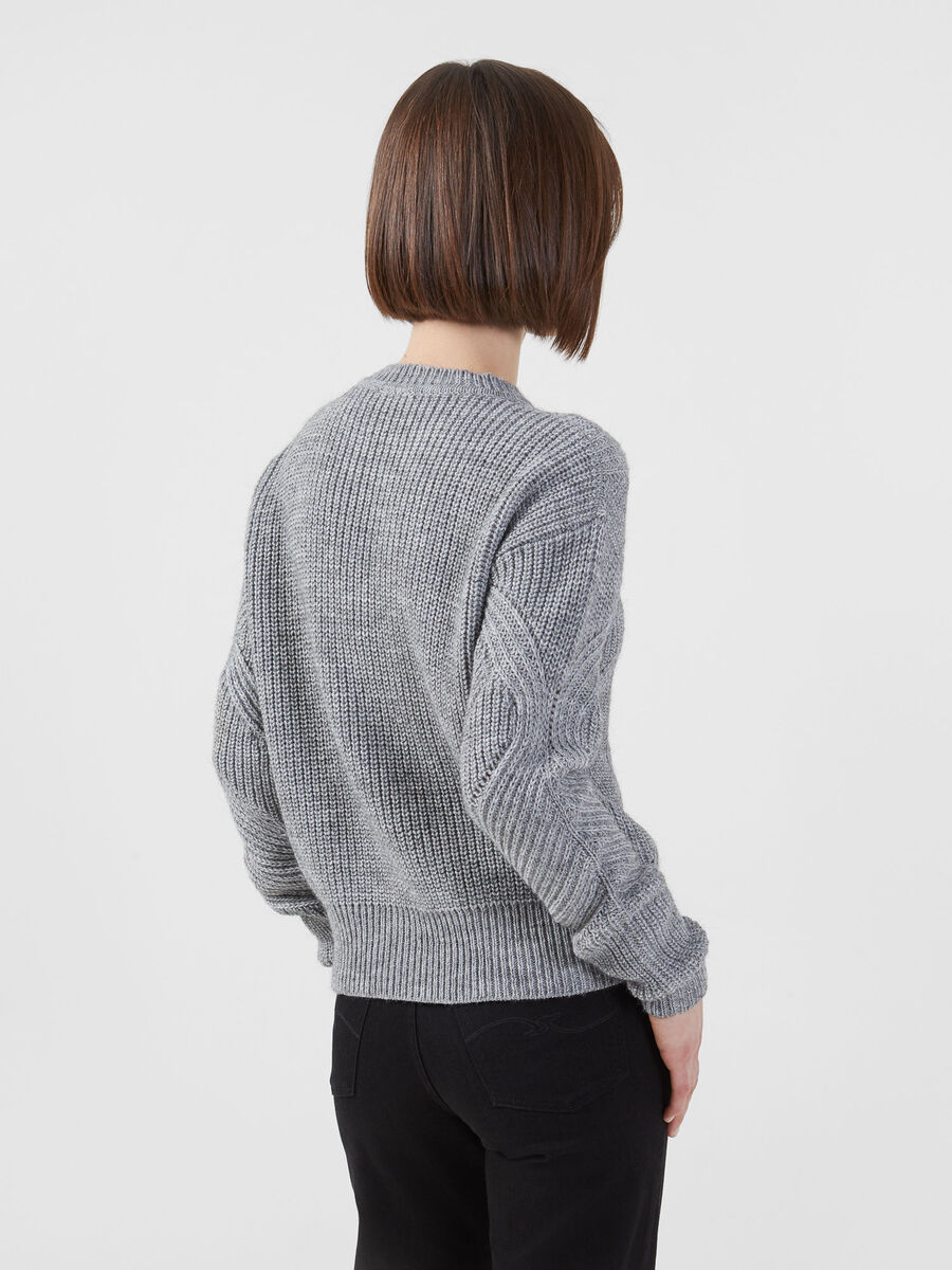Cropped alpaca blend pullover