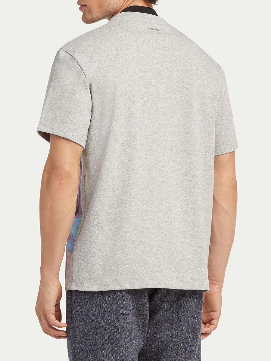 T shirt coupe over en jersey melange imprime