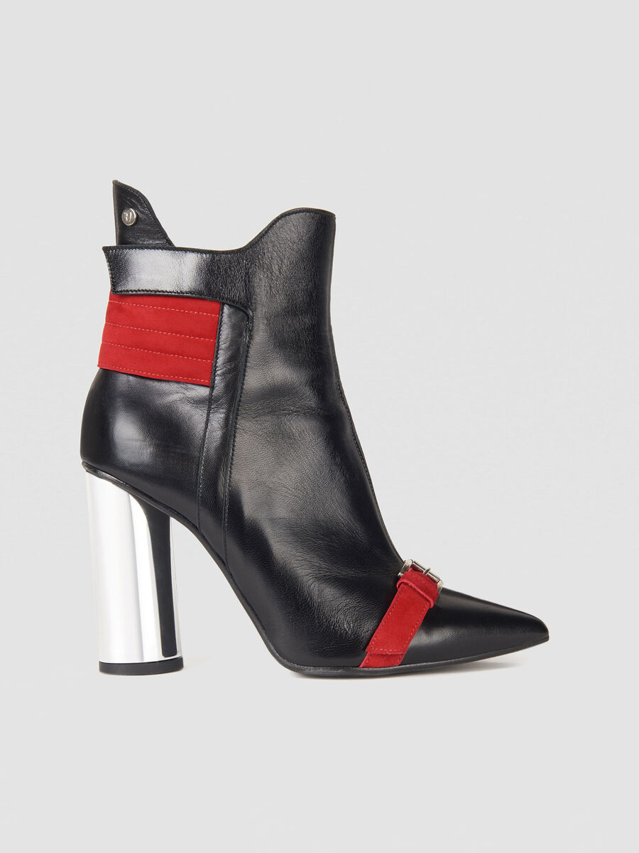 T-Cube ankle boots in leather and suede