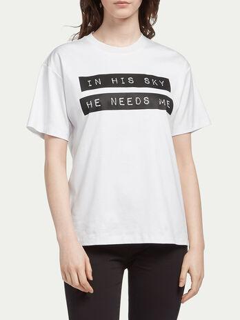 T Shirt aus Interlock mit Lettering Print