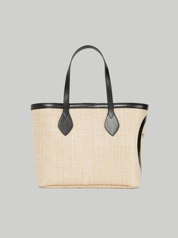 Shopping bag Logo Pop medium in rafia
