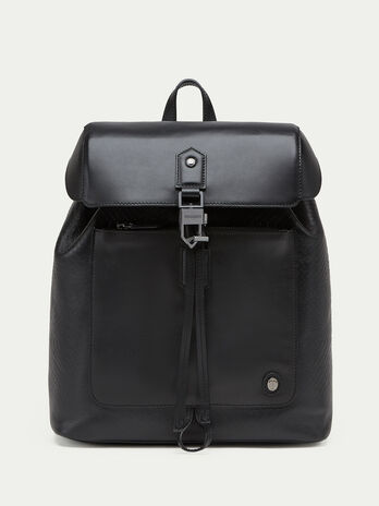 Bubble effect Tresor calfskin backpack