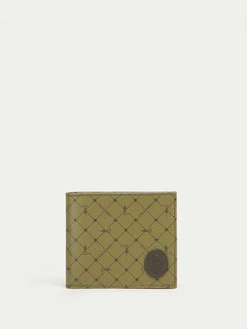 Portafoglio Monogram crespo pelle stampato