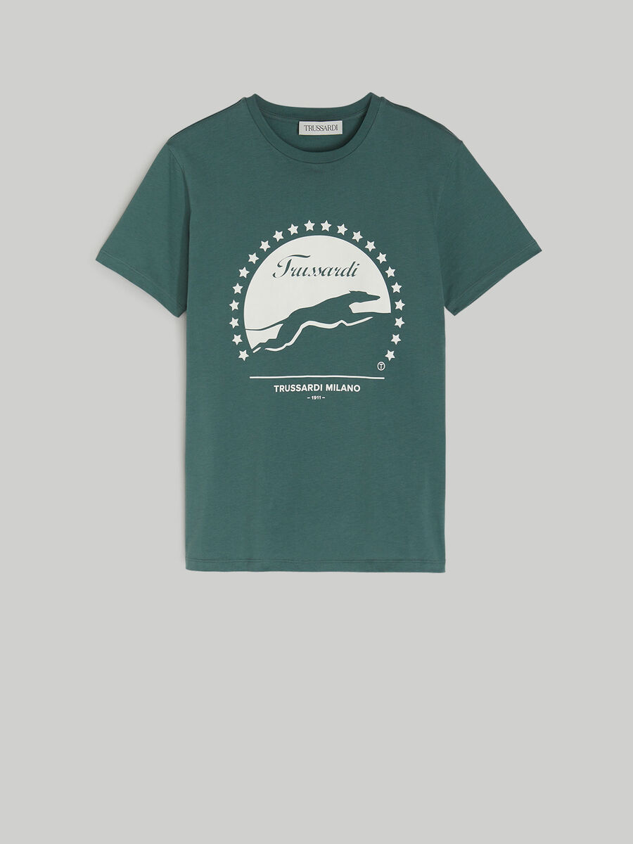 T-shirt regular fit in cotone con stampa