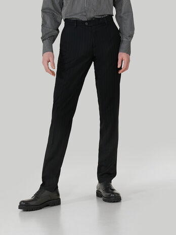 Pinstripe fabric Stamford trousers