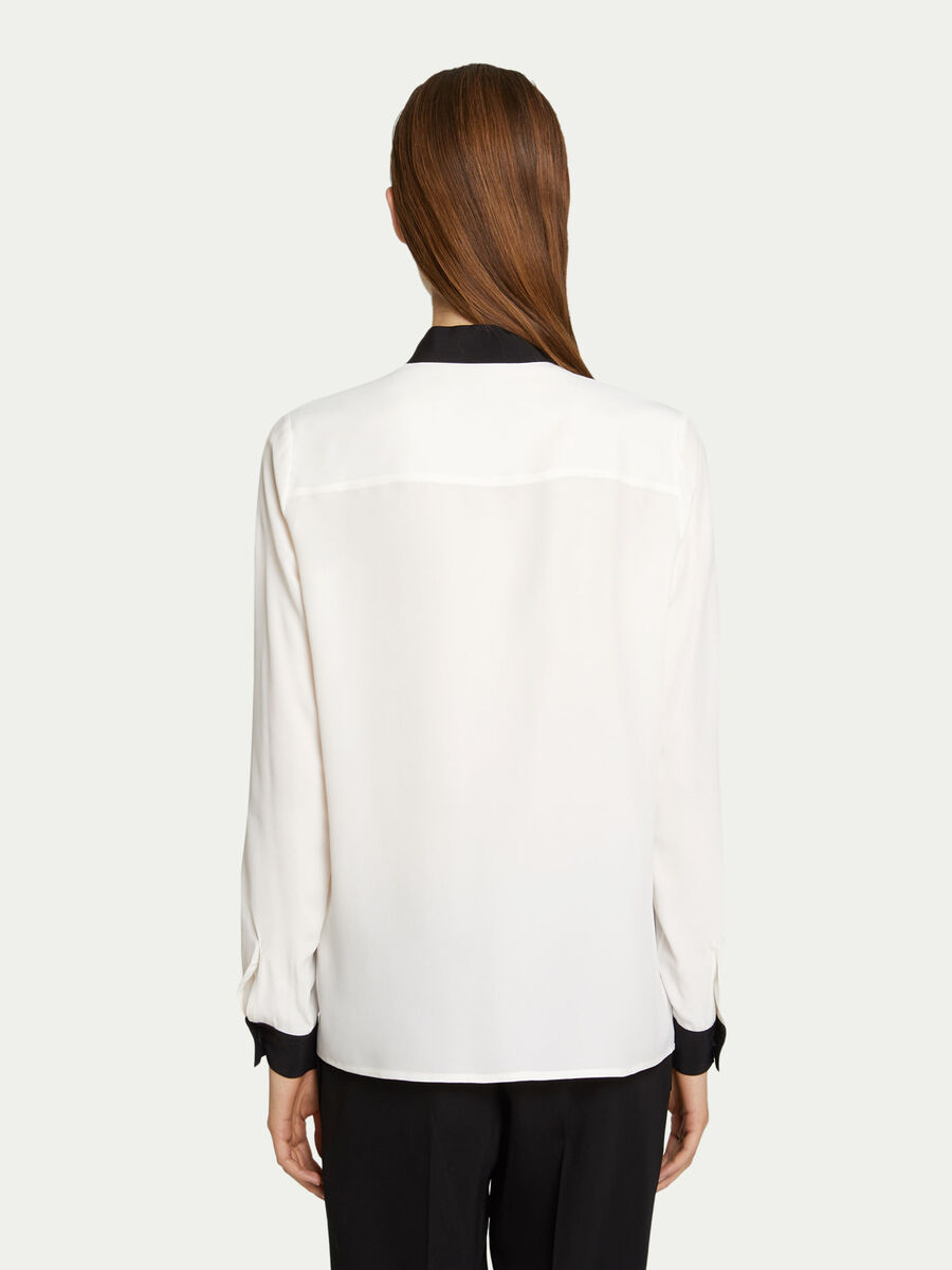 Regular fit shirt in two tone crepe