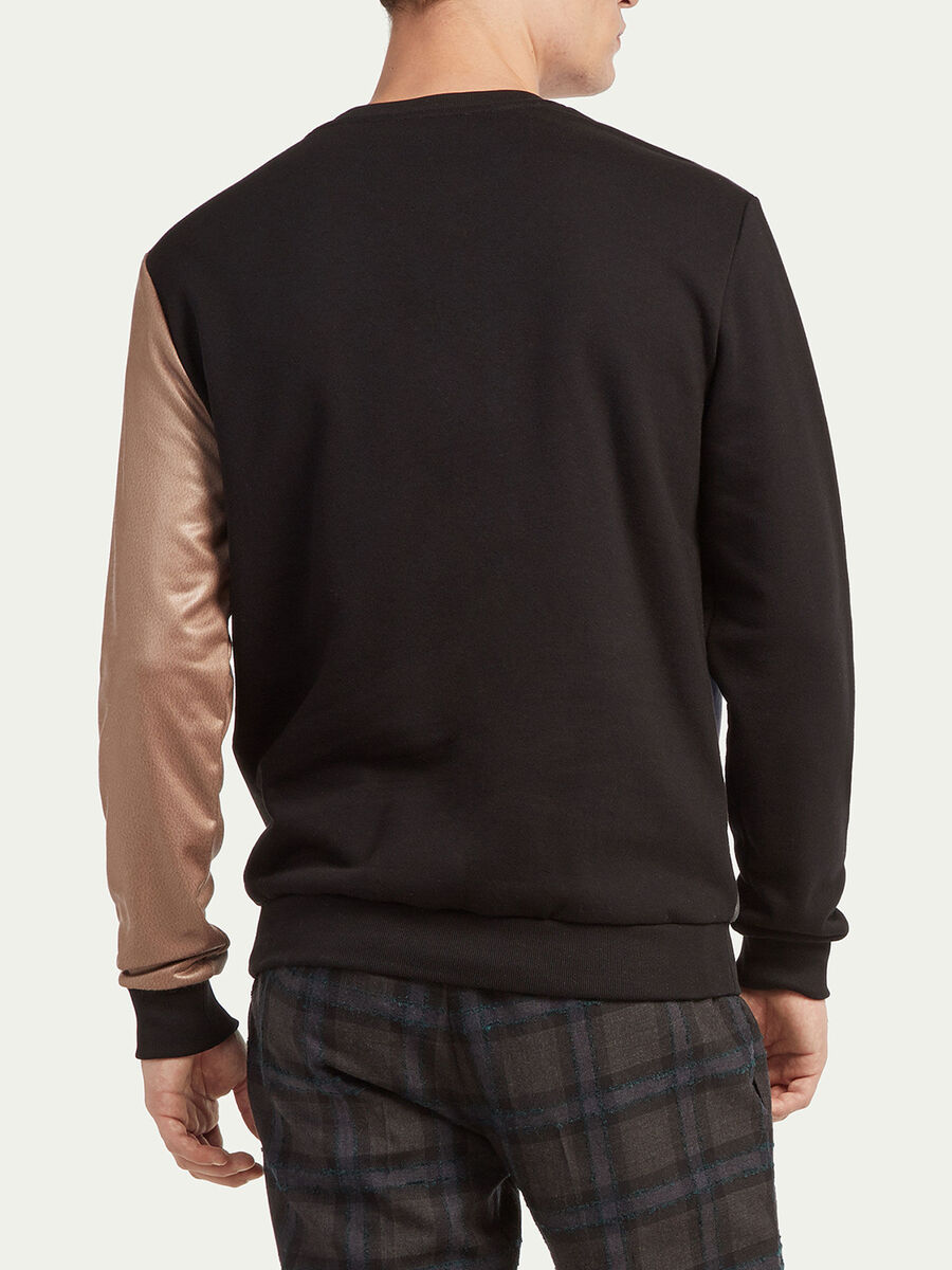Baumwolle Sweatshirt Regular Fit mit abstraktem Muster