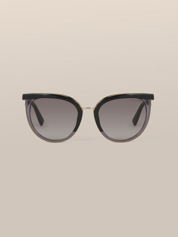 Runde Sonnenbrille aus Acetat und Metall