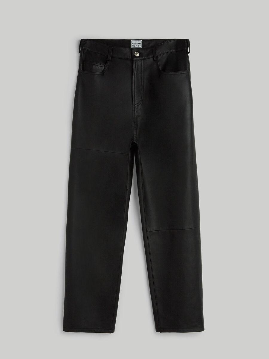 Pantalon style annees 80 en cuir Kansas