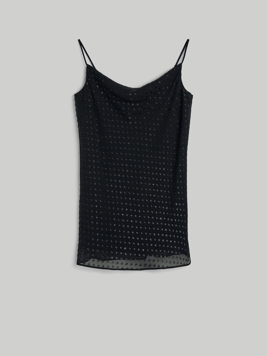 Sleeveless fil coupe top
