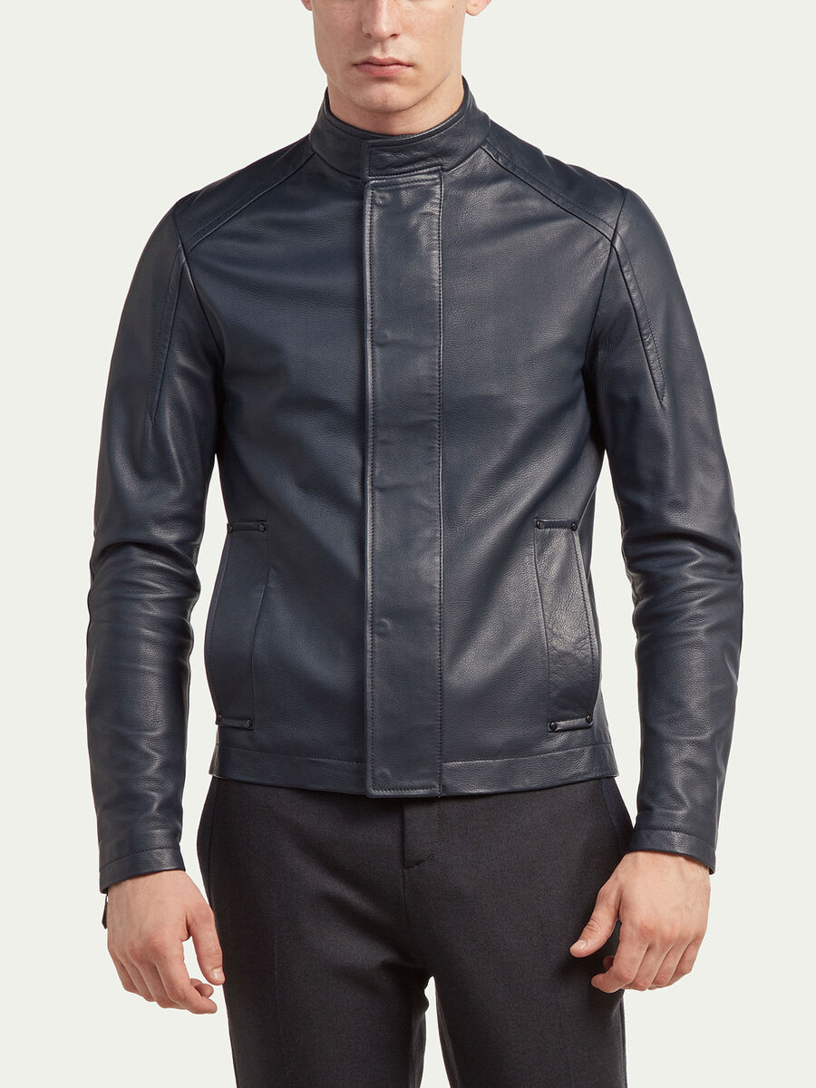 Pure leather biker jacket