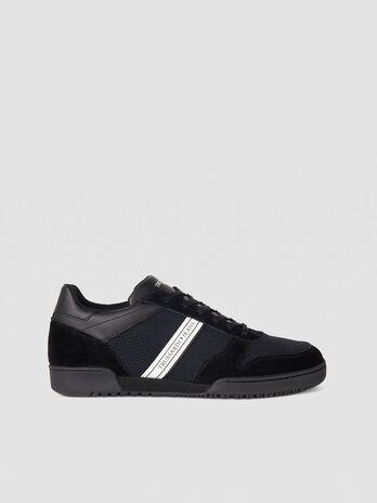 Sneaker in suede con logo stripe