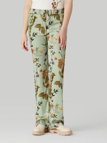 Pantalon fluido con estampado a flores