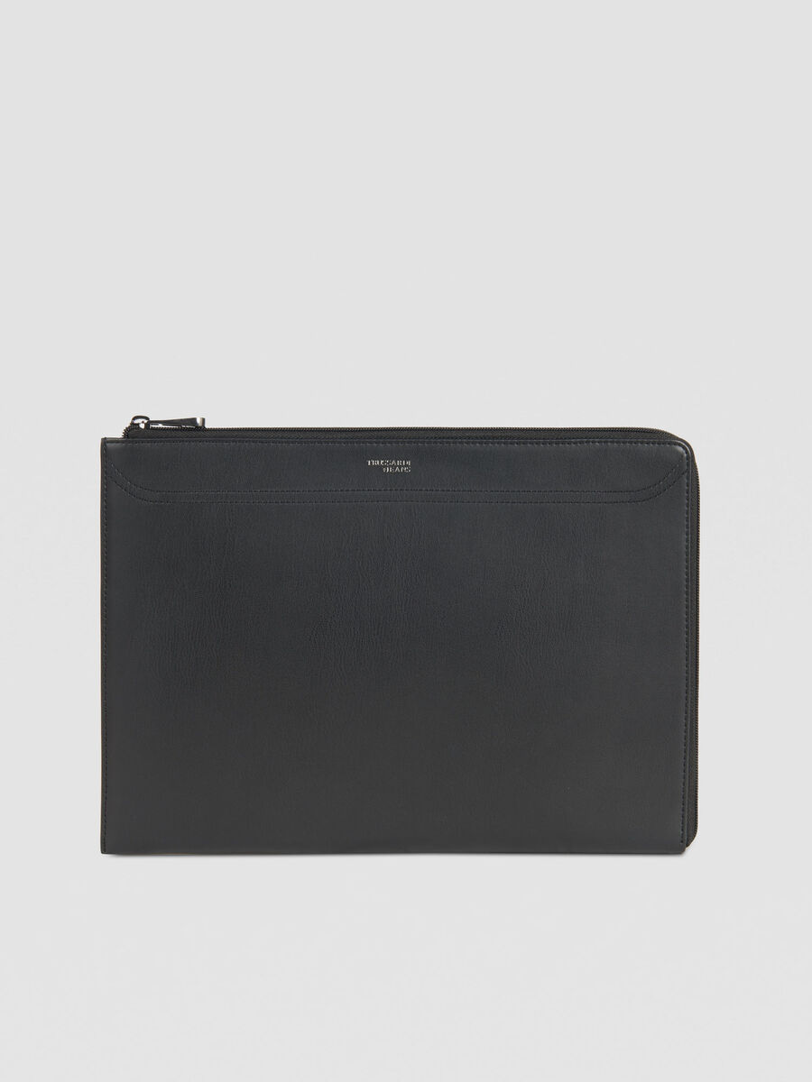 Case 13 laptop case in solid colour faux leather