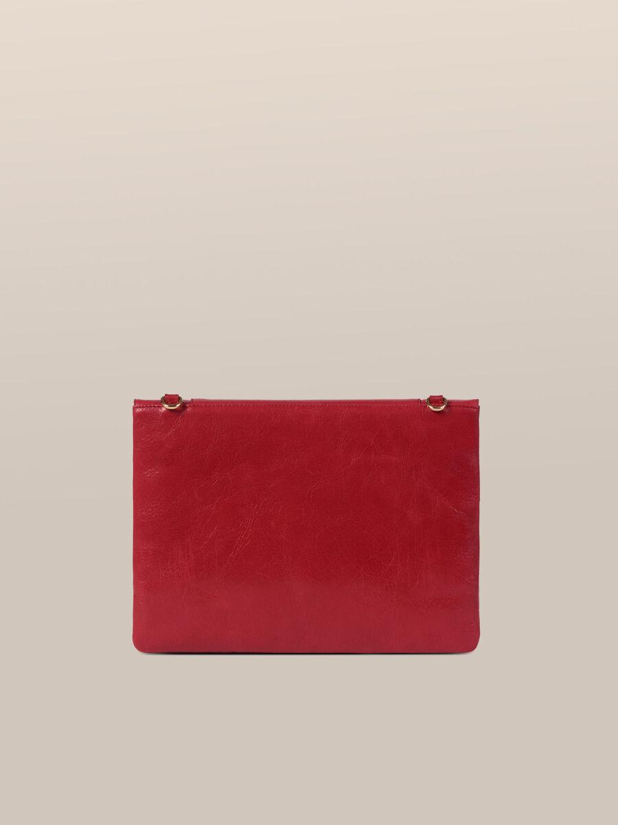 Medium New Lovy clutch in Athene leather