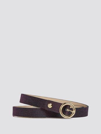 Cintura glitterata con striature puntinate