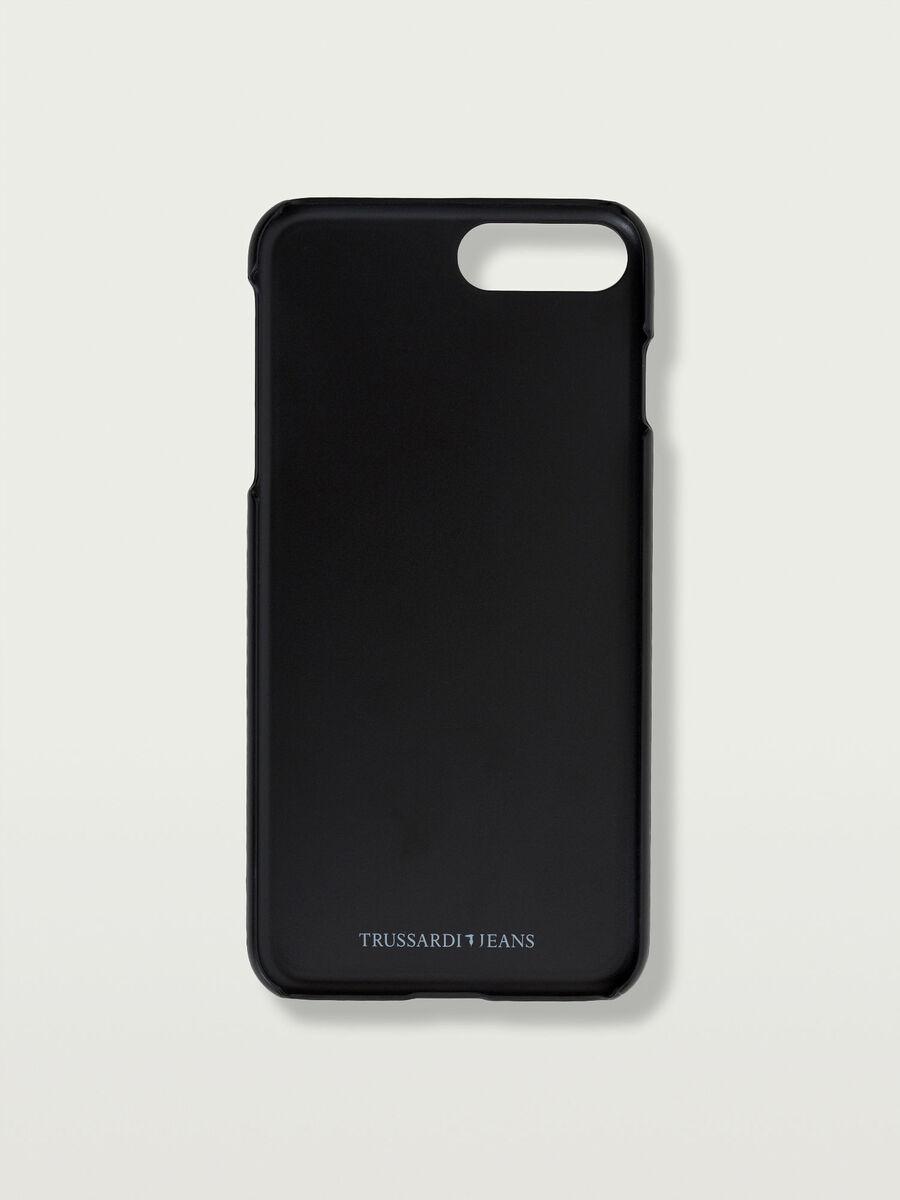 Funda iPhone 7 Plus rigida con parche corazon