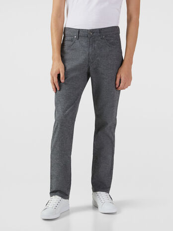 Aviator fit trousers in stretch micro pique