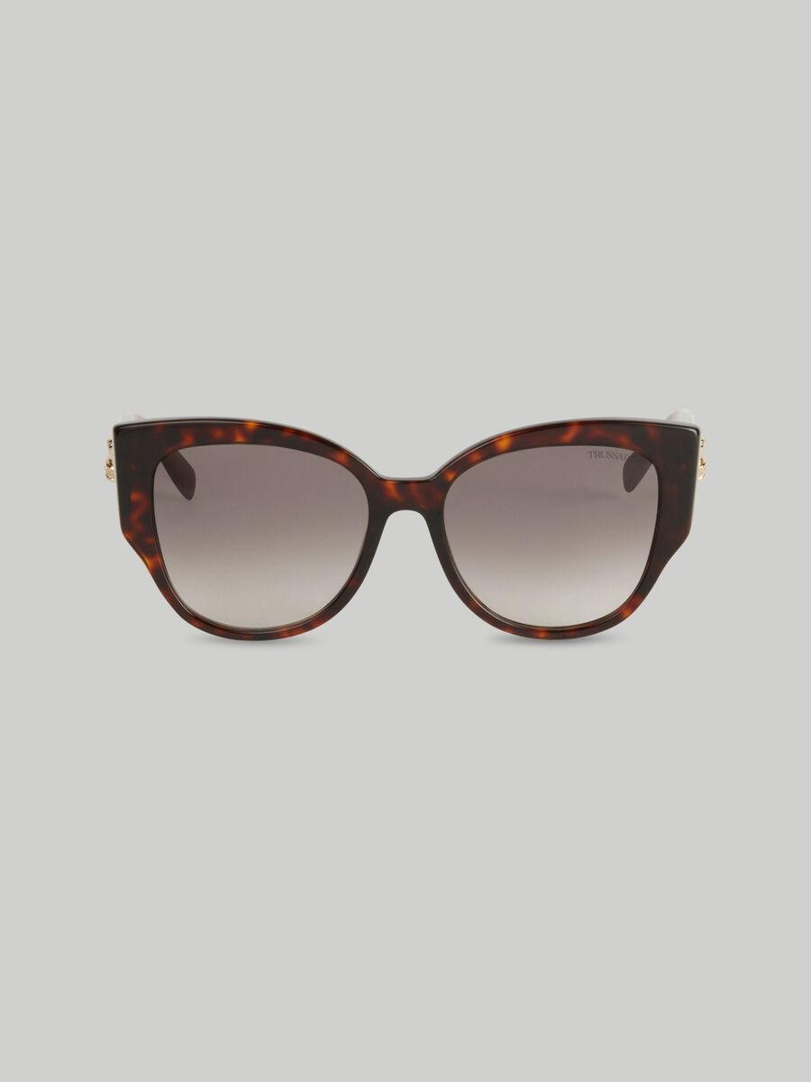 Tortoiseshell sunglasses with Levriero greyhound detail