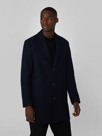 Single breasted woollen over coat