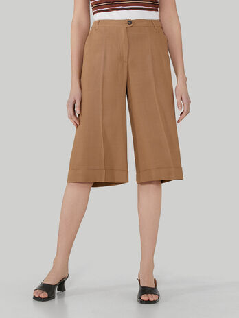 Pantalon bermuda de viscosa