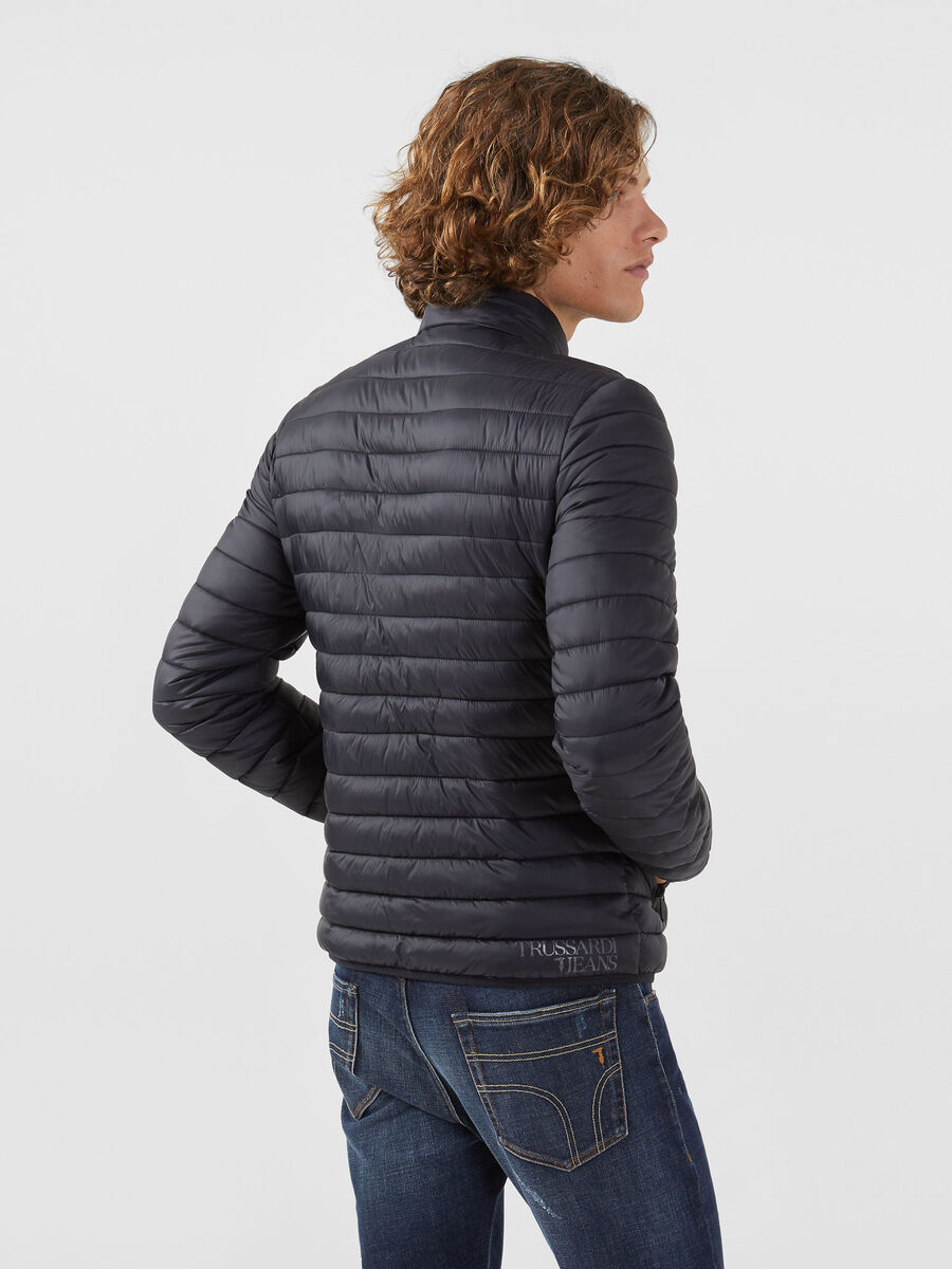 Slim fit down jacket in light matte nylon