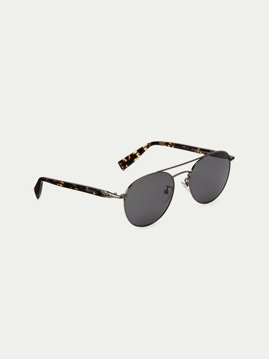 Gafas de sol redondeadas efecto carey