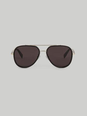 Gafas de sol de aviador de metal y acetato