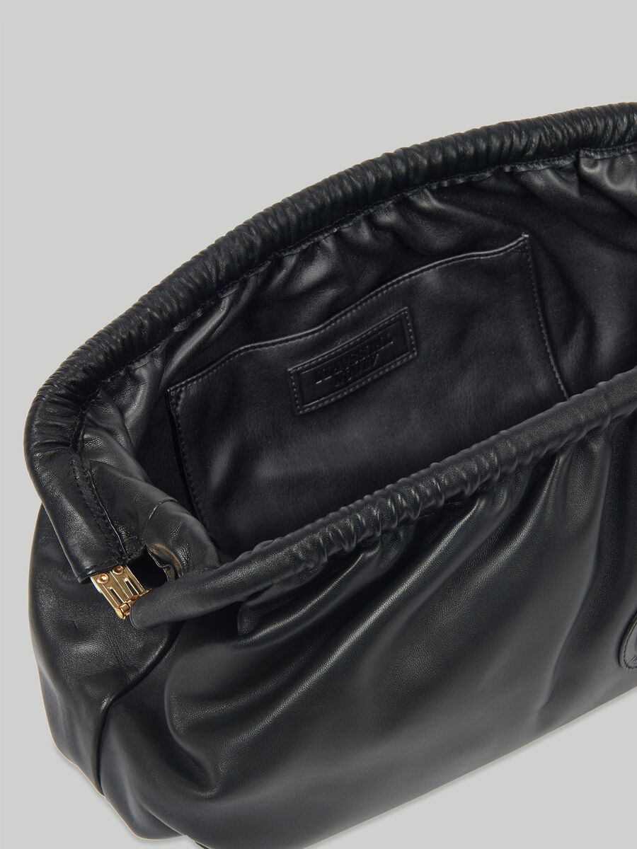 T79 clutch in monochrome nappa leather