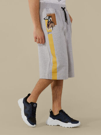 Regular-fit fleece shorts