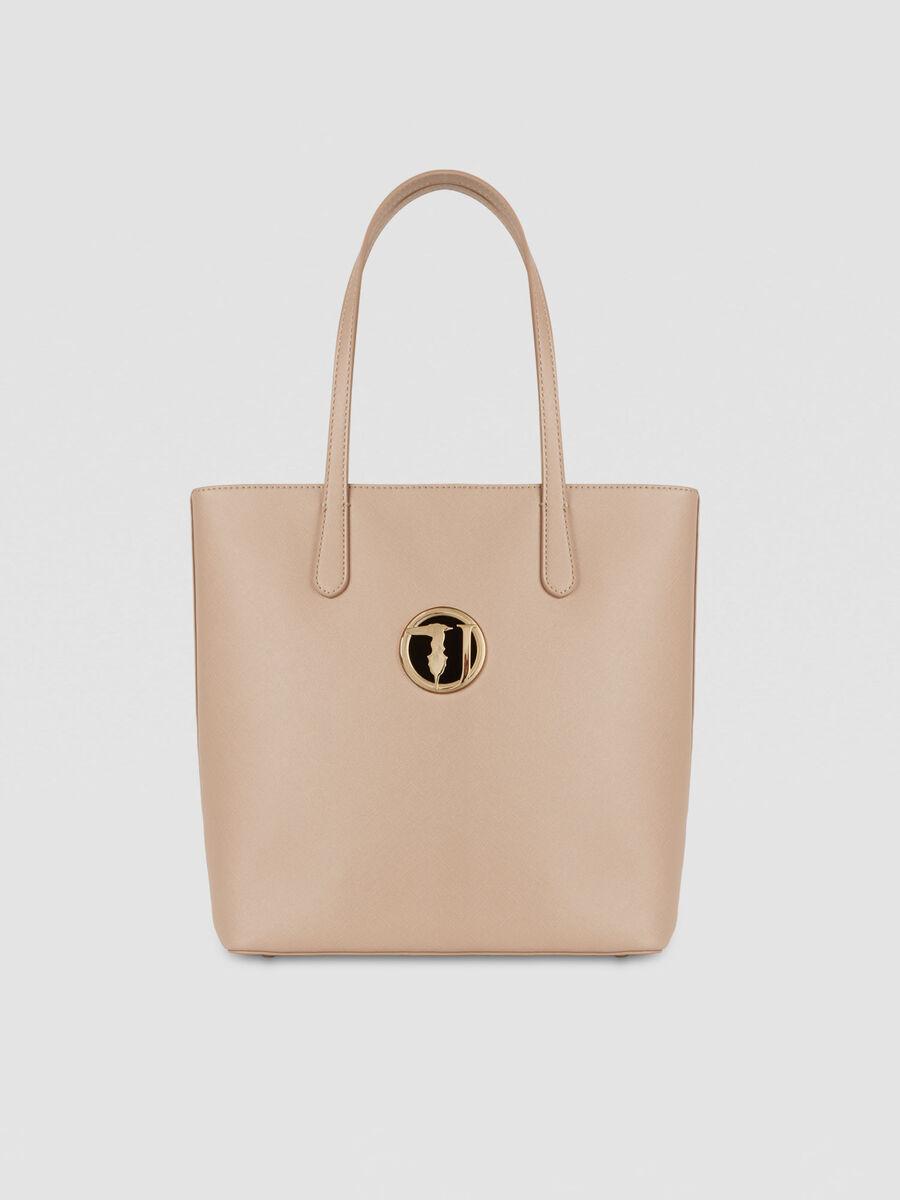 Medium saffiano Sophie shopper with logo