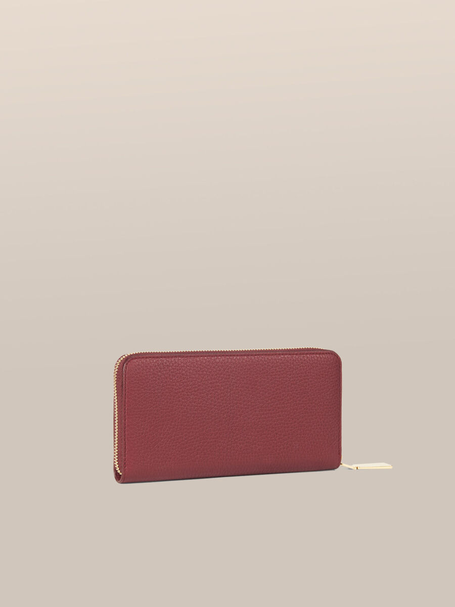 Leather Olivia zip around purse