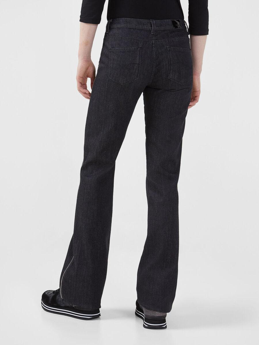 Flared 206 jeans in black Nevada denim
