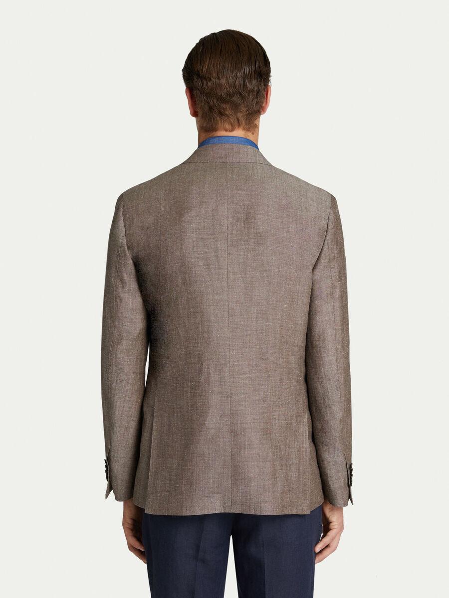 Prestige solid colour jacket with iconic Levriero