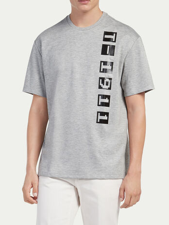 Oversized compact jersey T shirt