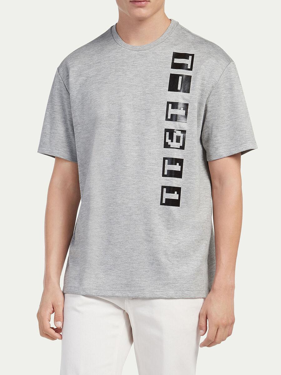 Oversized compact jersey T shirt