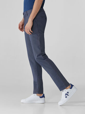 Pantaloni 70s fit in cotone armaturato fantasia