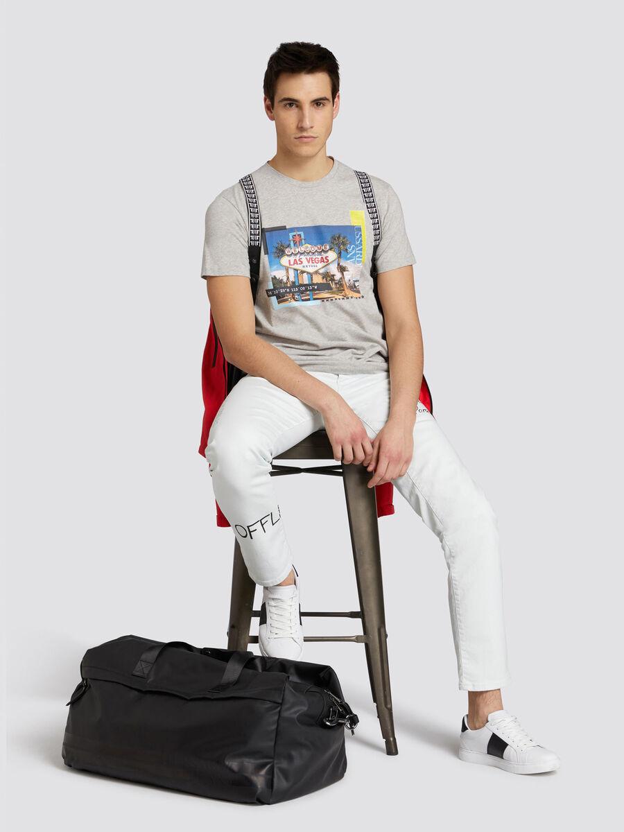 Regular fit jersey T shirt with Las Vegas print