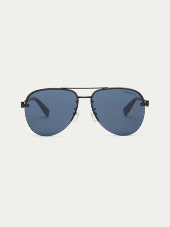 Occhiali da sole con lente piatta